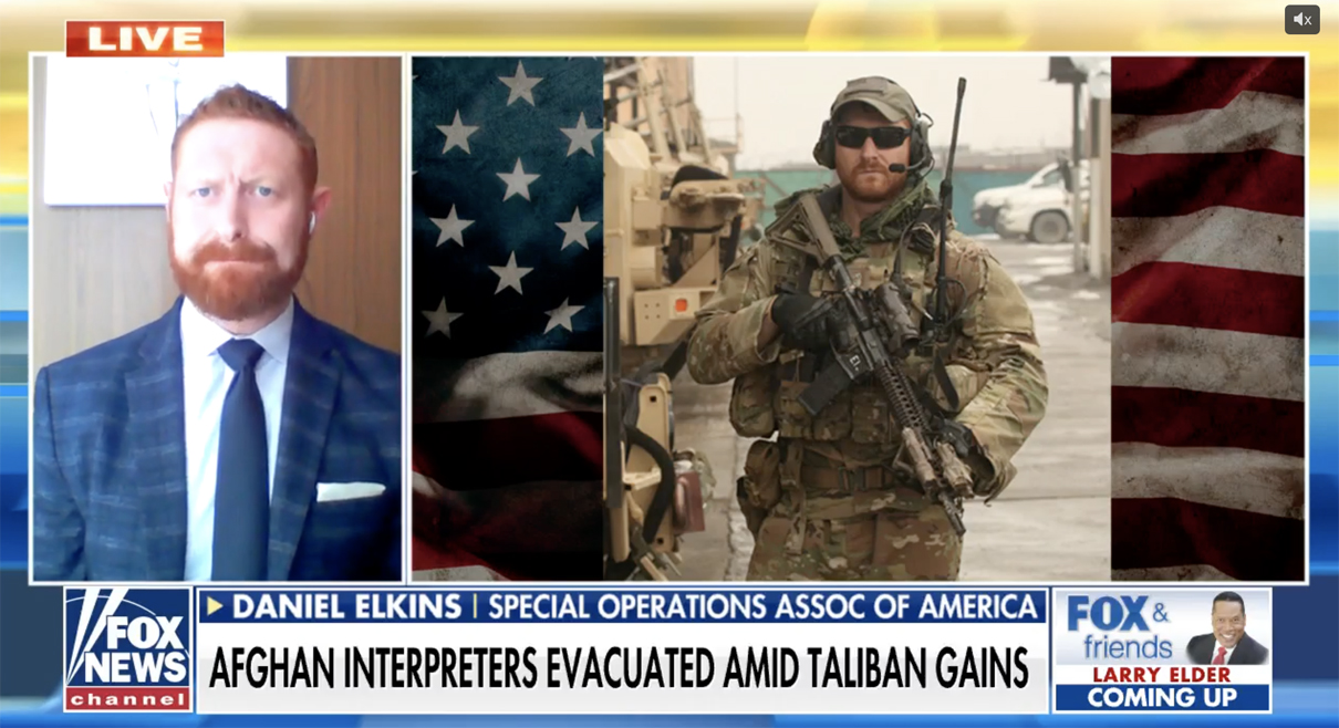 You are currently viewing Daniel Elkins on Fox News: Airlift of Afghans