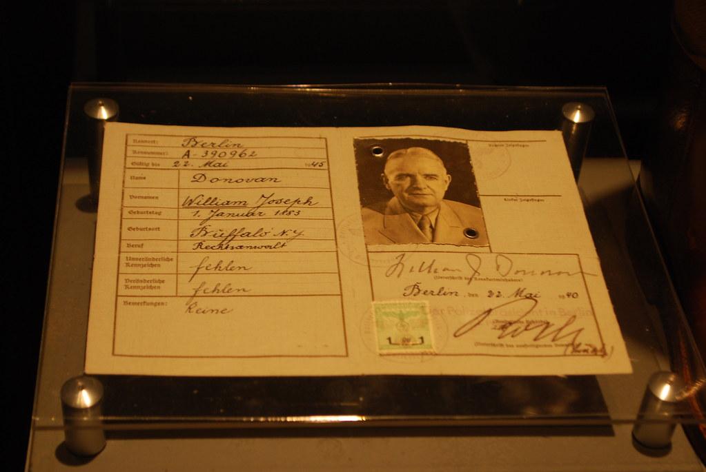 Wild Bill Donovan ID Card